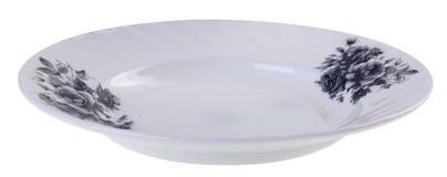 Πιάτα στο άσπρο υπόβαθρο Στοκ Φωτογραφία