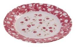 Πιάτα στο άσπρο υπόβαθρο Στοκ εικόνες με δικαίωμα ελεύθερης χρήσης