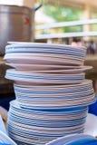 πιάτα σωρών Στοκ Φωτογραφία