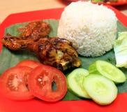 Πιάτα του εύγευστου τηγανισμένου κοτόπουλου Στοκ Εικόνες