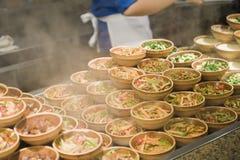 Πιάτα των ασιατικών λαχανικών Στοκ εικόνες με δικαίωμα ελεύθερης χρήσης