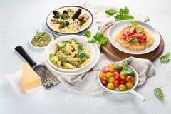 Πιάτα των ζυμαρικών στοκ φωτογραφίες