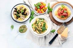 Πιάτα των ζυμαρικών στοκ εικόνα με δικαίωμα ελεύθερης χρήσης