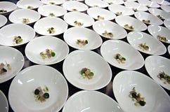Πιάτα Tapas έτοιμα να εξυπηρετηθούν Στοκ Εικόνα