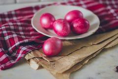 πιάτο αυγών Πάσχας στοκ εικόνες με δικαίωμα ελεύθερης χρήσης