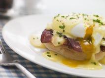 πιάτο αυγών του Benedict Στοκ φωτογραφίες με δικαίωμα ελεύθερης χρήσης
