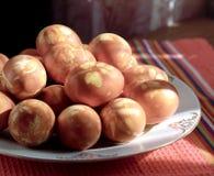 πιάτο αυγών pasch Στοκ εικόνα με δικαίωμα ελεύθερης χρήσης