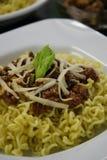 Πιάτο βόειου κρέατος των κινεζικών νουντλς Στοκ εικόνα με δικαίωμα ελεύθερης χρήσης