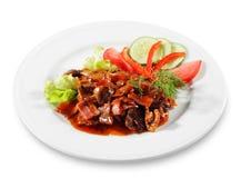 πιάτο βόειου κρέατος στοκ εικόνες