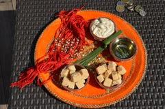 Πιάτο γαμήλιας λειτουργίας Punjabi Στοκ Εικόνες