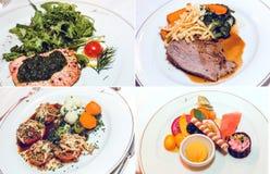 Πιάτο γευμάτων κολάζ στοκ εικόνες