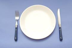 πιάτο γευμάτων Στοκ Φωτογραφίες