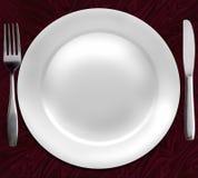 πιάτο γευμάτων Στοκ εικόνα με δικαίωμα ελεύθερης χρήσης