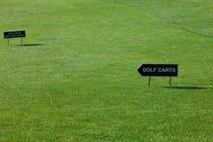 Πιάτο γηπέδων του γκολφ και εμβλημάτων Στοκ φωτογραφία με δικαίωμα ελεύθερης χρήσης