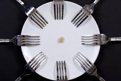πιάτο δικράνων Στοκ Εικόνες