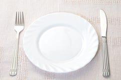 πιάτο δικράνων khife Στοκ Φωτογραφίες