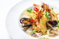 Πιάτο ζυμαρικών θαλασσινών στοκ φωτογραφία