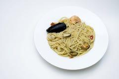 Πιάτο ζυμαρικών θαλασσινών Στοκ Εικόνες