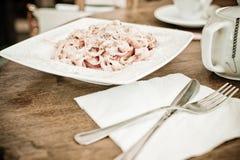 Πιάτο ζυμαρικών στοκ φωτογραφίες με δικαίωμα ελεύθερης χρήσης
