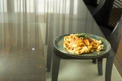 πιάτο ζυμαρικών στοκ φωτογραφίες