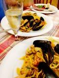 Πιάτο θαλασσινών στη Ρώμη, Ιταλία Στοκ Φωτογραφία
