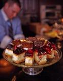 πιάτο κέικ Στοκ Εικόνες