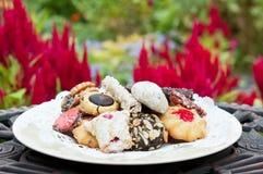 πιάτο κήπων μπισκότων Στοκ φωτογραφία με δικαίωμα ελεύθερης χρήσης