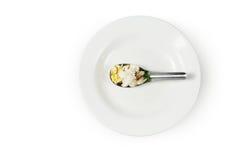 Πιάτο και κουτάλι Στοκ Φωτογραφίες