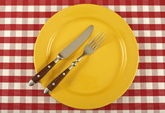 Πιάτο και μαχαιροπήρουνα Στοκ Εικόνες