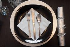 Πιάτο και σύνολο γευμάτων Στοκ Εικόνες