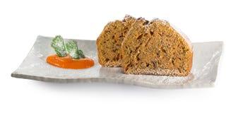 πιάτο καρότων κέικ Στοκ Φωτογραφία