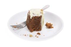πιάτο καρότων κέικ Στοκ Εικόνα