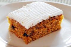 πιάτο καρότων κέικ Στοκ Εικόνες