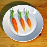 πιάτο καρότων Στοκ εικόνα με δικαίωμα ελεύθερης χρήσης