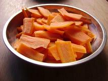 Πιάτο καρότων Στοκ φωτογραφία με δικαίωμα ελεύθερης χρήσης