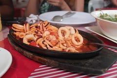 Πιάτο καλαμαριών Στοκ Φωτογραφία