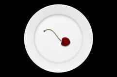 πιάτο κερασιών Στοκ Φωτογραφίες
