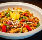 Πιάτο κοτόπουλου τσίλι Στοκ φωτογραφία με δικαίωμα ελεύθερης χρήσης