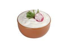 πιάτο κρέμας ξινό Στοκ Εικόνες