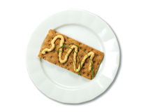 πιάτο κροτίδων που διαδίδ Στοκ φωτογραφία με δικαίωμα ελεύθερης χρήσης