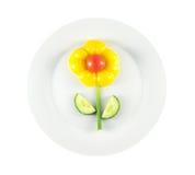 πιάτο λουλουδιών Στοκ Εικόνες