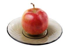 πιάτο μήλων λοξά Στοκ Φωτογραφία