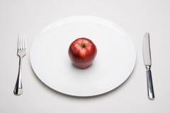 πιάτο μήλων Στοκ Φωτογραφίες