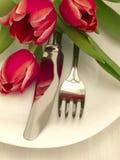 πιάτο μαχαιριών δικράνων Στοκ φωτογραφία με δικαίωμα ελεύθερης χρήσης