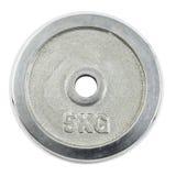 Πιάτο μετάλλων barbell που απομονώνεται Στοκ φωτογραφία με δικαίωμα ελεύθερης χρήσης