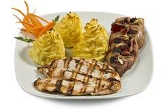 Πιάτο με τα διάφορα κρέατα Στοκ φωτογραφίες με δικαίωμα ελεύθερης χρήσης