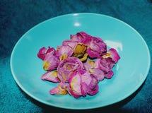 Πιάτο με τα λουλούδια στοκ φωτογραφία με δικαίωμα ελεύθερης χρήσης
