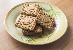 Πιάτο με τα μπισκότα Στοκ φωτογραφία με δικαίωμα ελεύθερης χρήσης