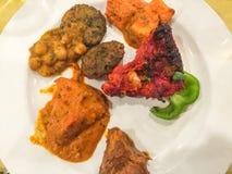 Πιάτο με τα τρόφιμα στοκ εικόνα
