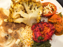 Πιάτο με τα τρόφιμα στοκ εικόνες